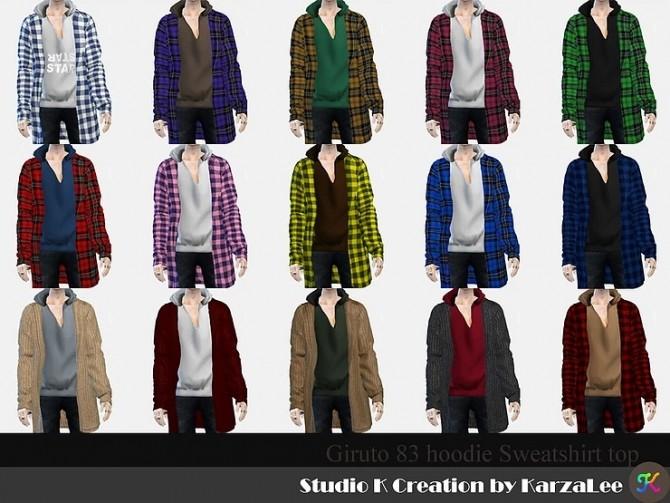 Giruto 83 hoodie sweatshirt top at Studio K Creation image 2403 670x503 Sims 4 Updates
