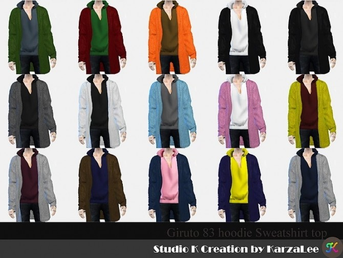 Giruto 83 hoodie sweatshirt top at Studio K Creation image 24110 670x503 Sims 4 Updates