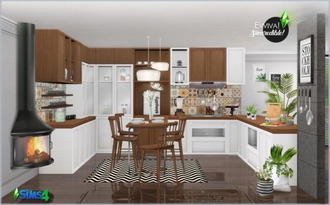 EVVIVA kitchen (P) at SIMcredible! Designs 4 image 2419 670x417 Sims 4 Updates