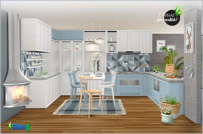 Sims 4 EVVIVA kitchen (P) at SIMcredible! Designs 4