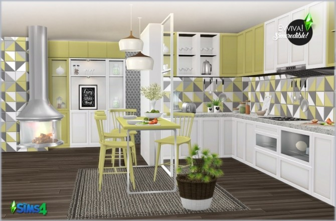 EVVIVA kitchen (P) at SIMcredible! Designs 4 image 2442 670x442 Sims 4 Updates