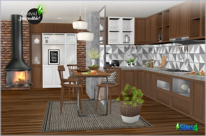 EVVIVA kitchen (P) at SIMcredible! Designs 4 image 2452 670x442 Sims 4 Updates