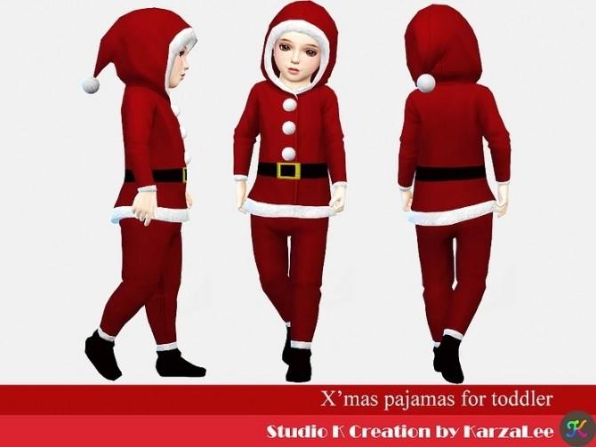 Xmas pajamas for toddler at Studio K Creation image 2453 670x503 Sims 4 Updates