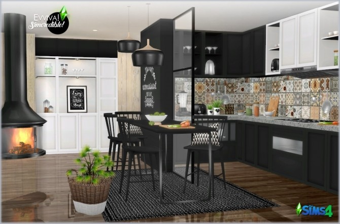 Evviva Kitchen P At Simcredible Designs 4 187 Sims 4 Updates