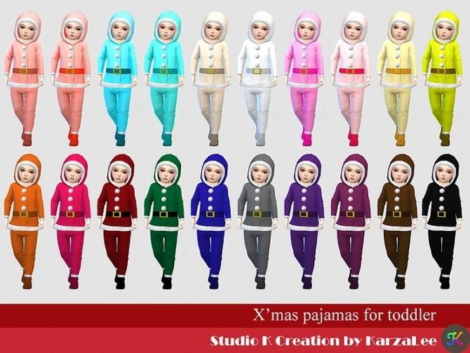 Xmas pajamas for toddler at Studio K Creation image 2463 670x503 Sims 4 Updates