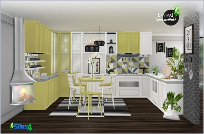 EVVIVA kitchen (P) at SIMcredible! Designs 4 image 2472 670x442 Sims 4 Updates