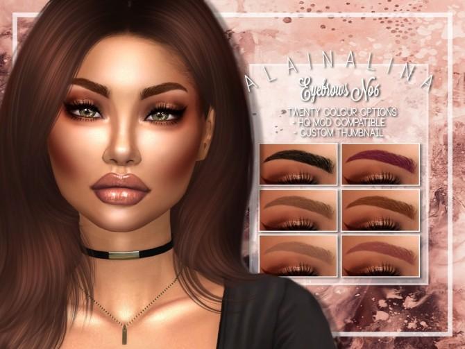 Sims 4 Eyebrows No6 at AlainaLina