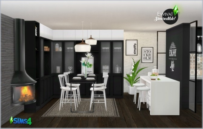 EVVIVA kitchen (P) at SIMcredible! Designs 4 image 2492 670x426 Sims 4 Updates