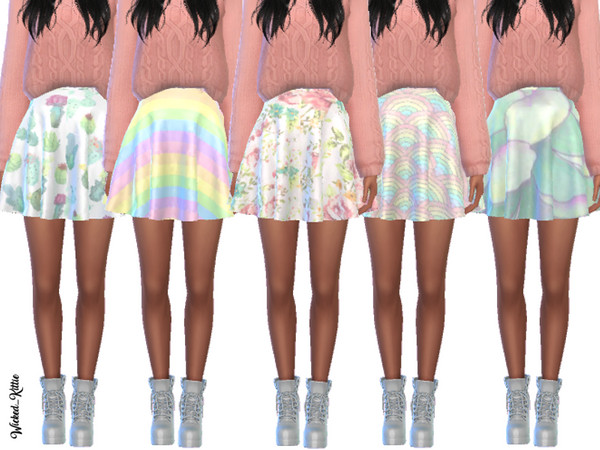 Simple Pastel Skirts by Wicked Kittie at TSR image 25 Sims 4 Updates