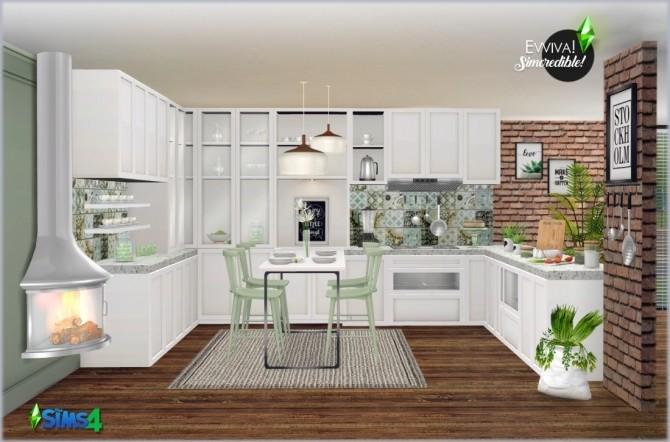 EVVIVA kitchen (P) at SIMcredible! Designs 4 image 2502 670x442 Sims 4 Updates