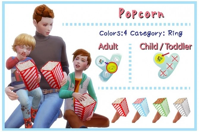 Sims 4 Cotton candy sets & Popcorn sets (ACC) at A luckyday