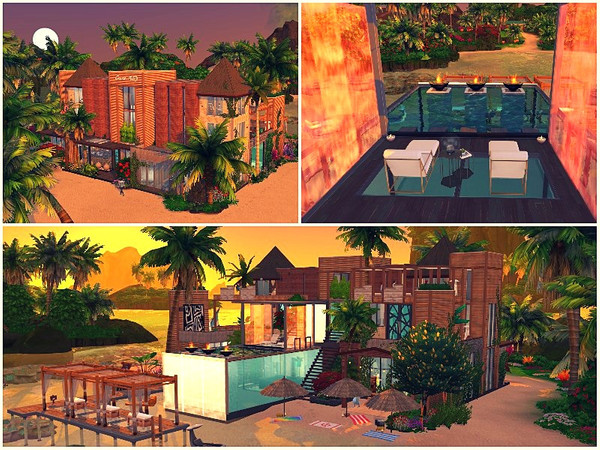 Sims 4 White Sand Spa by lotsbymanal at TSR