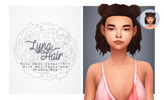 Sims 4 Lyna hair with a bang option at Isjao – working on uni