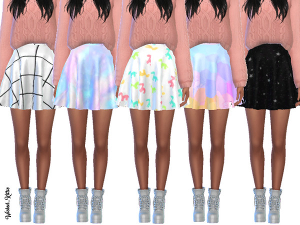 Simple Pastel Skirts by Wicked Kittie at TSR image 26 Sims 4 Updates