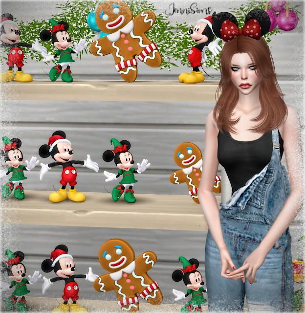 Sims 4 Decorative Gingerbread Man Xmas, Mickey & Minnie at Jenni Sims