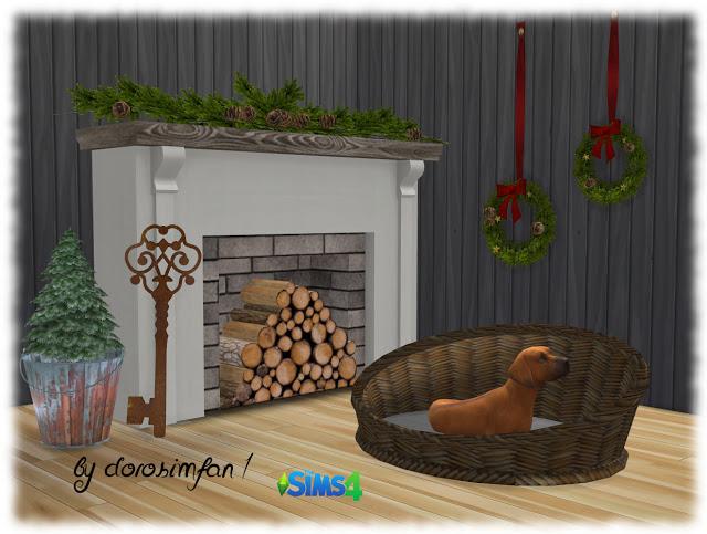 Sims 4 Dog basket by dorosimfan1 at Sims Marktplatz
