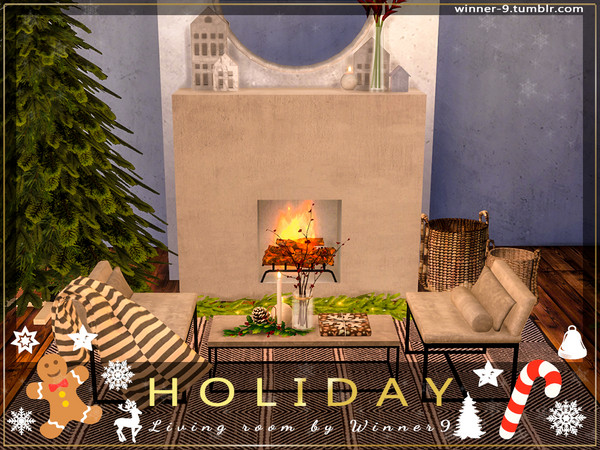Holiday Living Room by Winner9 at TSR image 2726 Sims 4 Updates