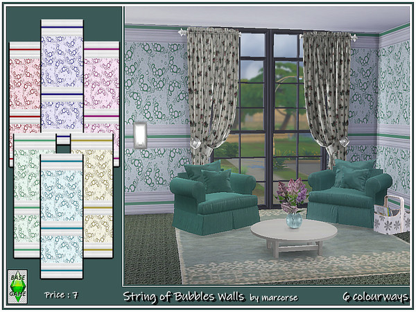 String of Bubbles Walls by marcorse at TSR image 28 Sims 4 Updates