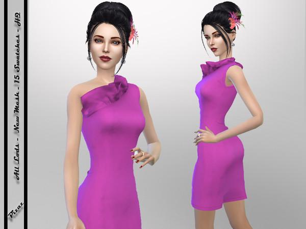 Sims 4 Ruffle Top Dress by pizazz at TSR