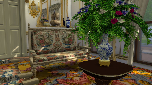 Louis XIII Sofa & Armchair at Regal Sims image 282 Sims 4 Updates