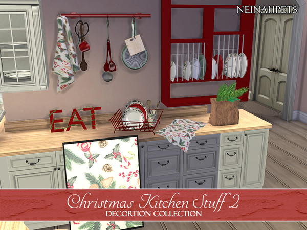 Christmas Kitchen Stuff Collection II by neinahpets at TSR image 2821 Sims 4 Updates