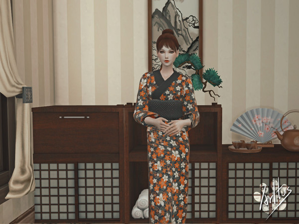 Sims 4 Japanese Yukata by Arltos at TSR