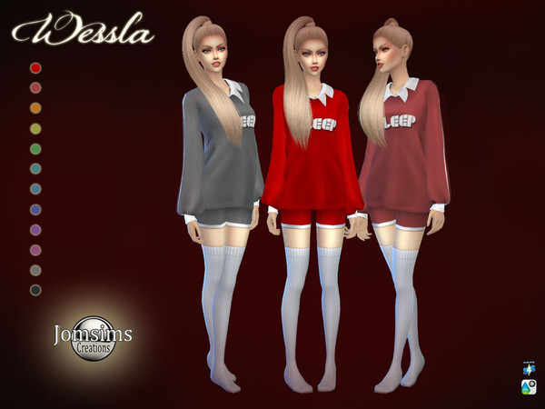 Wessla pajama by jomsims at TSR image 2824 Sims 4 Updates