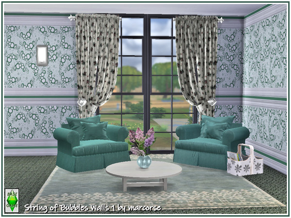 String of Bubbles Walls by marcorse at TSR image 29 Sims 4 Updates