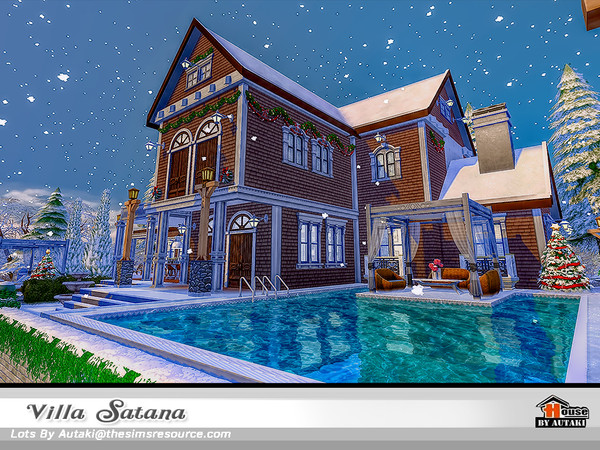 Sims 4 Villa Satana by autaki at TSR