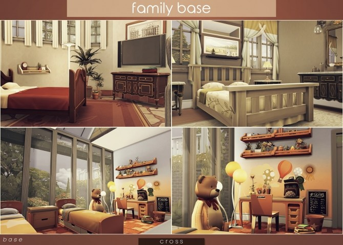 Sims 4 Family Base house by Praline at Cross Design