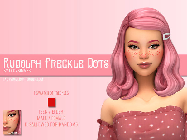 Sims 4 Rudolph Freckle Dots by LadySimmer94 at TSR
