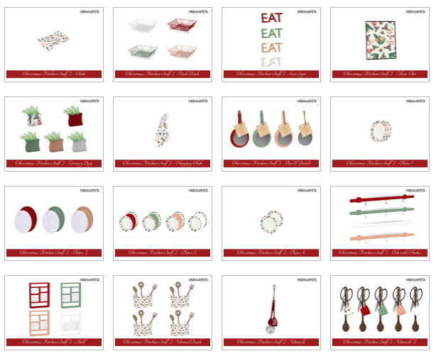 Christmas Kitchen Stuff Collection II by neinahpets at TSR image 2922 Sims 4 Updates