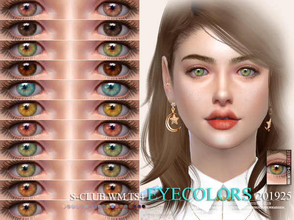 Sims 4 Eyecolors 201925 by S Club WM at TSR