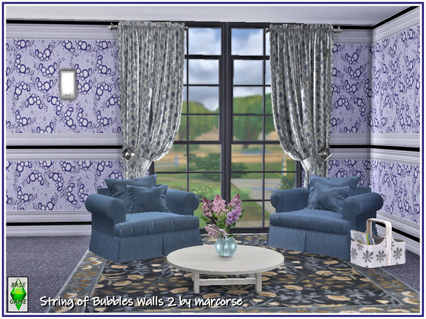 String of Bubbles Walls by marcorse at TSR image 30 Sims 4 Updates