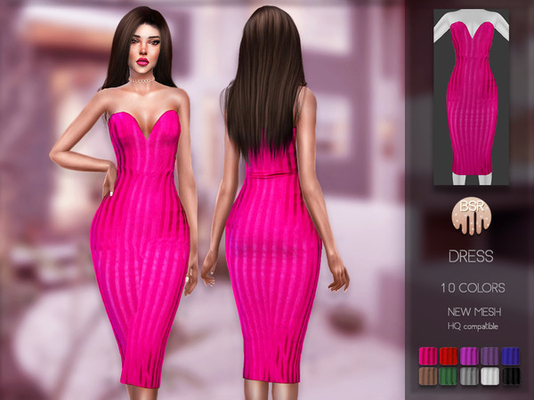 Dress BD161 by busra tr at TSR image 3001 Sims 4 Updates