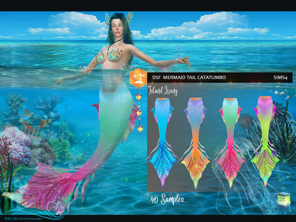 Sims 4 DSF MERMAID TAIL CATATUMBO by DanSimsFantasy at TSR