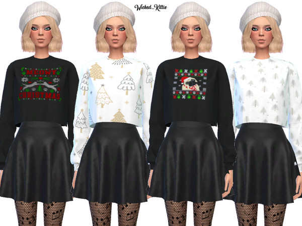 Dank Christmas Sweaters by Wicked Kittie at TSR image 3017 Sims 4 Updates