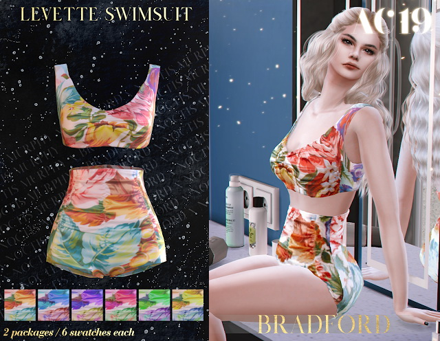 Sims 4 Levette Swimsuit AC 2019   Day 2 by Silence Bradford at MURPHY