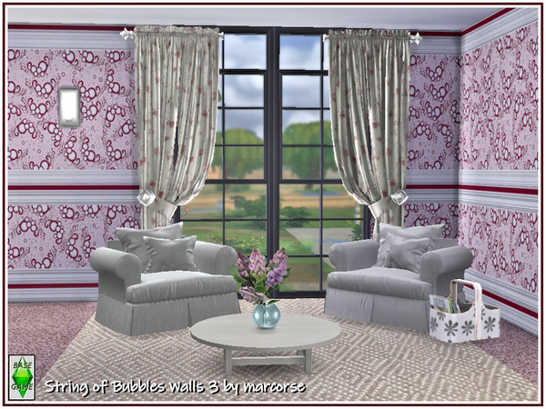 String of Bubbles Walls by marcorse at TSR image 31 Sims 4 Updates