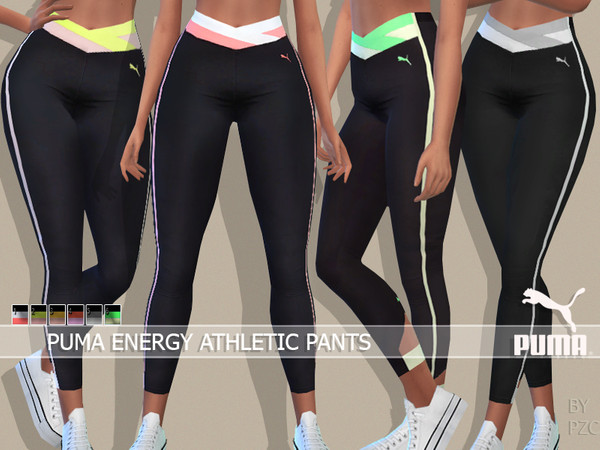 Sims 4 Energy Athletic Pants by Pinkzombiecupcakes at TSR
