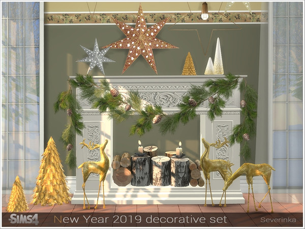 New Year 2019 decorative set by Severinka at TSR image 3151 Sims 4 Updates