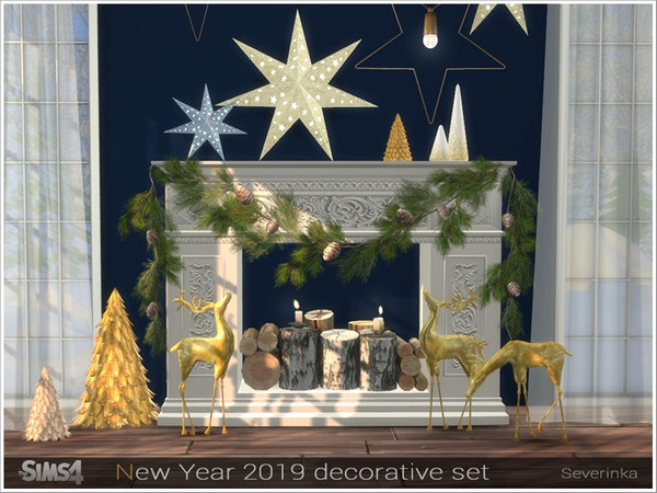 New Year 2019 decorative set by Severinka at TSR image 3161 Sims 4 Updates