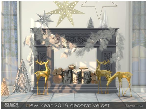 New Year 2019 decorative set by Severinka at TSR image 3171 Sims 4 Updates