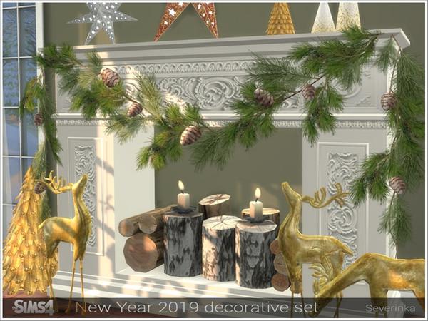 New Year 2019 decorative set by Severinka at TSR image 3181 Sims 4 Updates