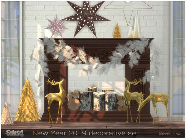 New Year 2019 decorative set by Severinka at TSR image 3191 Sims 4 Updates
