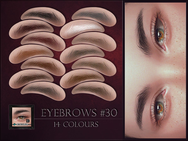 Sims 4 Eyebrows 30 by RemusSirion at TSR