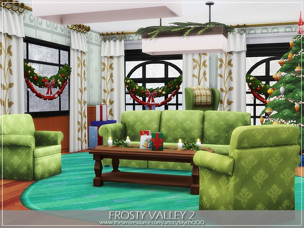 Sims 4 Frosty Valley 2 house by MychQQQ at TSR