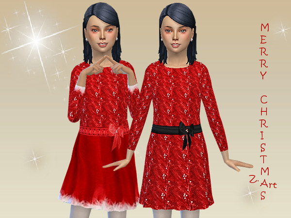WinterkidZ 06 shiny dress by Zuckerschnute20 at TSR image 3241 Sims 4 Updates