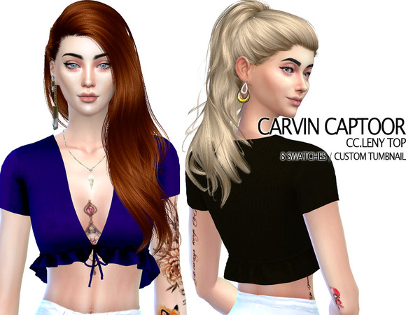 Sims 4 Leny top by carvin captoor at TSR