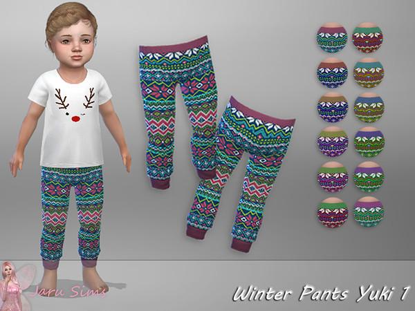 Sims 4 Winter Pants Yuki 1 by Jaru Sims at TSR